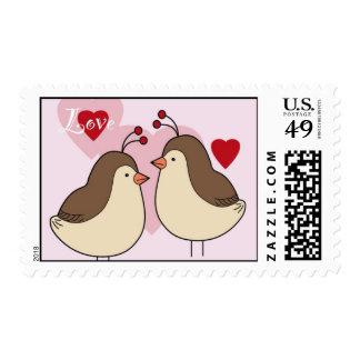Lovey Birds Postage