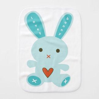 Lovey Bunny Burp Cloth