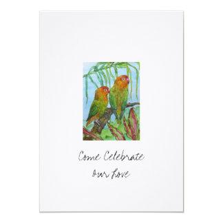 Lovey & Dovey 5x7 Paper Invitation Card