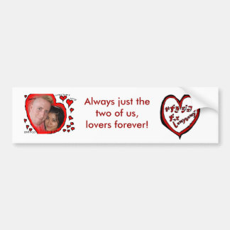 Lovey dovey bumper sticker