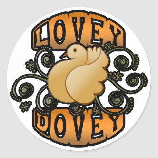 Lovey Dovey! Classic Round Sticker