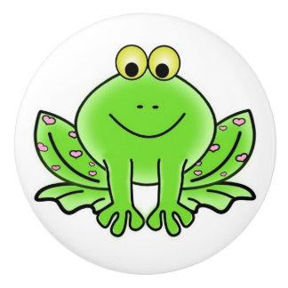 Lovey Dovey Frog Ceramic Knob