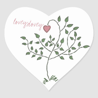 lovey dovey Heart Stickers