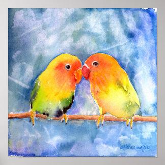Lovey Dovey Lovebirds Print