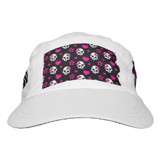 Lovey Goth Skulls in Bright Pink Hat