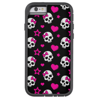 Lovey Goth Skulls in Bright Pink Tough Xtreme iPhone 6 Case