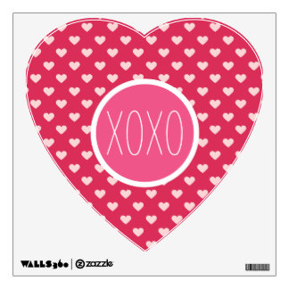 Lovey Love Hearts XOXO Wall Decal