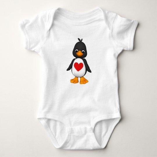 Lovey Penguin Baby Creeper T-Shirt