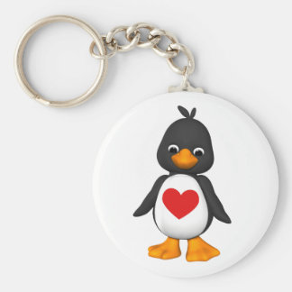 Lovey The Penguin Keychain
