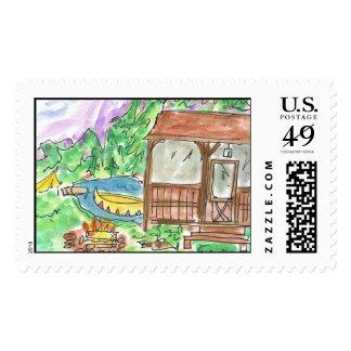 Lovie and Dodge A-Camp Stamp