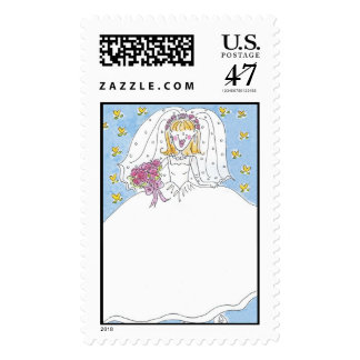 Lovie and Dodge Blushing Bride Postage
