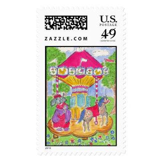 Lovie and Dodge Carousel Postage