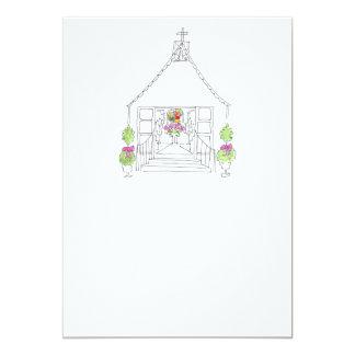 Lovie and Dodge D-Z57-Little White Church 5x7 Paper Invitation Card