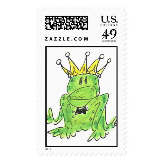Lovie and Dodge Frog King Stamps