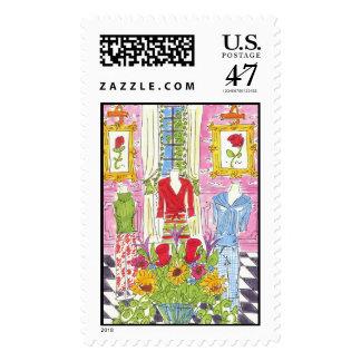 Lovie and Dodge Spring Fashions Stamp