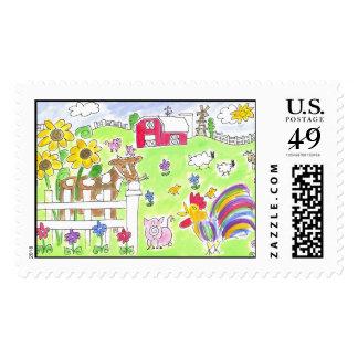 Lovie and Dodge - The Farm Stamp