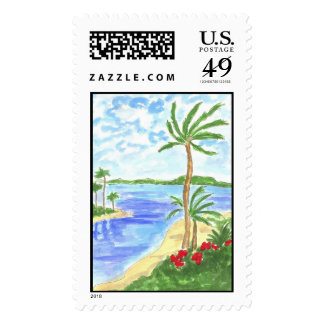 Lovie and Dodge - Tropical Breeze Postage Stamps