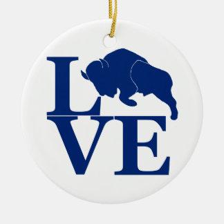 Lovin' Buffalo Ceramic Ornament