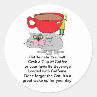 Lovin Cat N Coffee Stickers