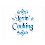Lovin Cooking Postcard