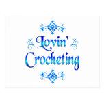 Lovin Crocheting Postcard