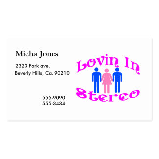 Lovin In Stereo Two Men Business Card Templates