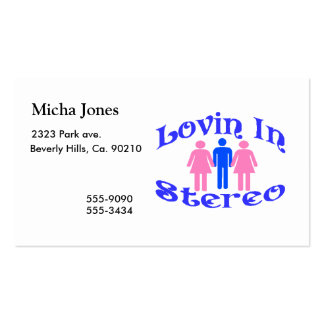 Lovin In Stereo Two Women Business Card Templates