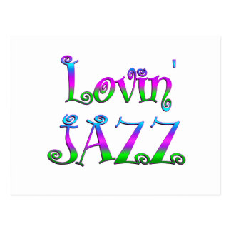 Lovin Jazz Postcard