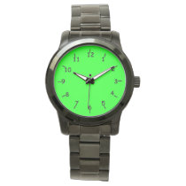 Lovin' Lime Oversized Black Bracelet Wristwatch