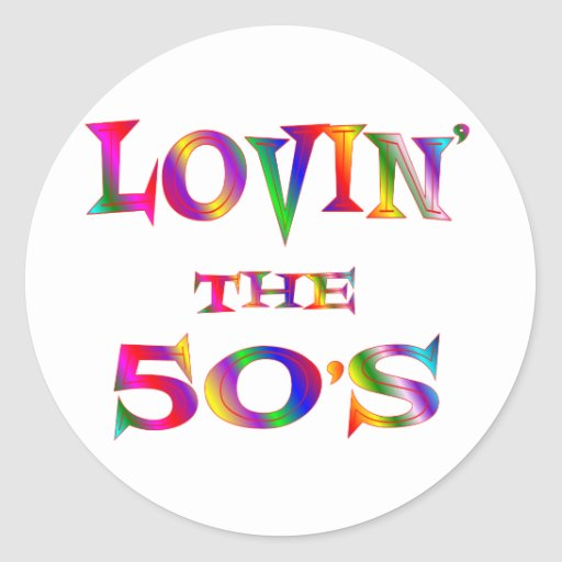 Lovin los años 50 pegatina redonda