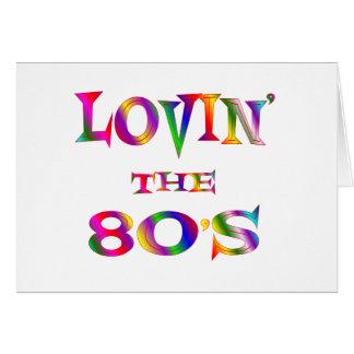Lovin los años 80 tarjetón