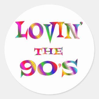 Lovin los años 90 pegatina redonda