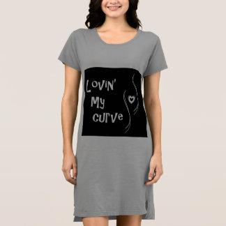 Lovin' My Curve(s) t-shirt dress for women (XL)