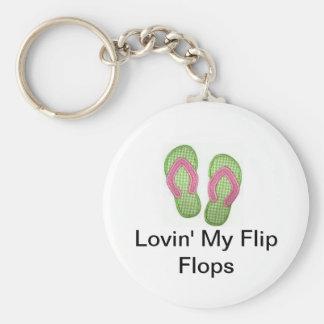 Lovin' My Flip Flops Keychain