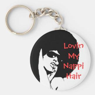 LOVIN MY NAPPI HAIR KEYCHAIN