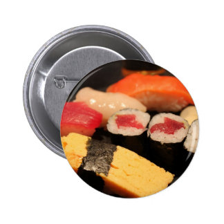 Lovin' my sushi pinback button