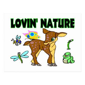 Lovin Nature Animals Postcard