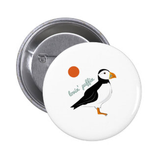 Lovin Puffin Pinback Buttons