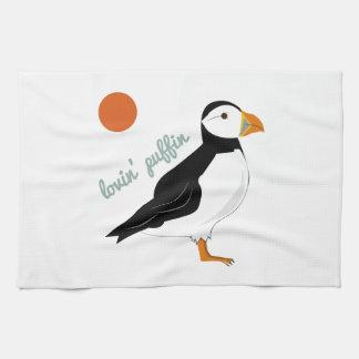 Lovin Puffin Hand Towels