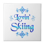 Lovin Skiing Ceramic Tiles