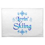 Lovin Skiing Place Mats
