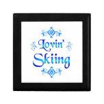 Lovin Skiing Trinket Box