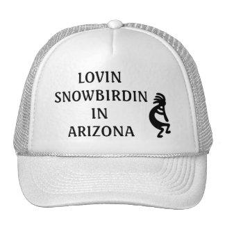 LOVIN SNOWBIRDIN IN ARIZONA KOKOPELLI TRUCKER HAT