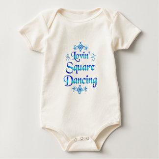 Lovin Square Dancing Baby Bodysuit