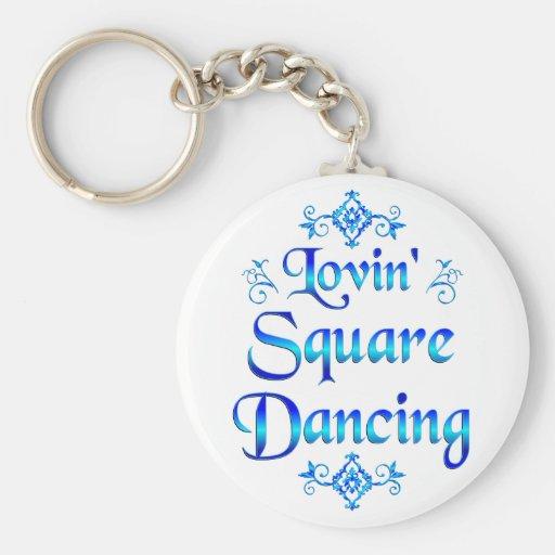 Lovin Square Dancing Keychains