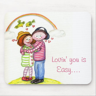 Lovin you is Easy.... Couple Love Gift Present Mouse Pads