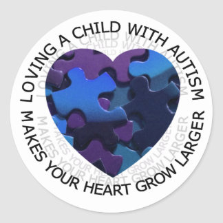 Loving a child with autism sticker