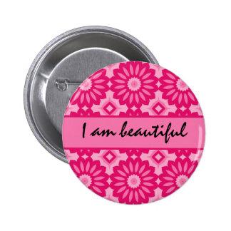 Loving affirmation, I am beautiful 2 Inch Round Button