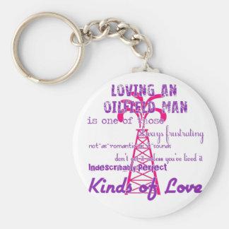 Loving an Oilfield Man Keychain