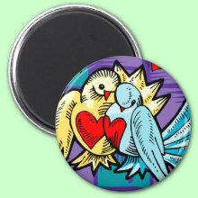 Loving Birds Magnet